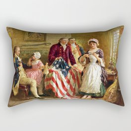 Betsy Ross and General George Washington Rectangular Pillow