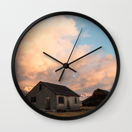 Sunrise at an Abandoned Farm Wall Clock