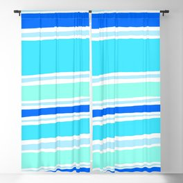 del mar, ocean blue Blackout Curtain