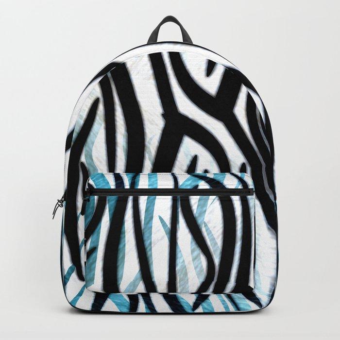 Abstract Zebra Print Backpack