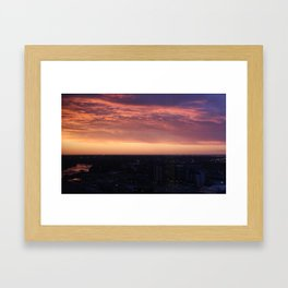 Calgary Sunrise Framed Art Print