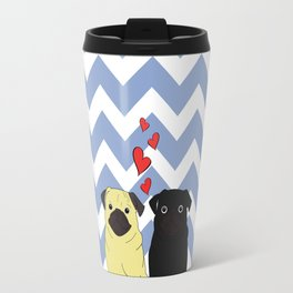 Chevron Pug Travel Mug