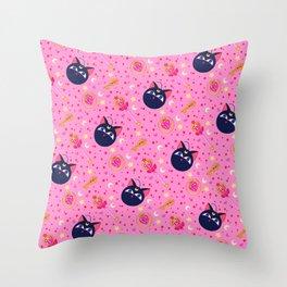 Chibi Moon Pattern / Sailor Moon Throw Pillow