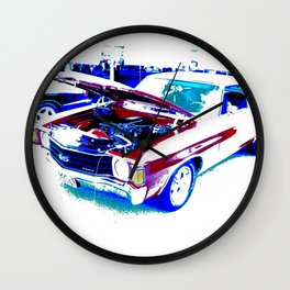 Red Chevelle Wall Clock