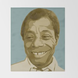 James Baldwin Throw Blanket