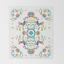 Hungarian folk art Throw Blanket