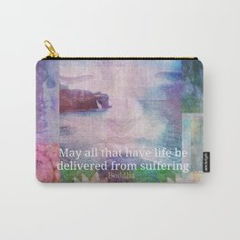 Buddha Vegan quote Carry-All Pouch