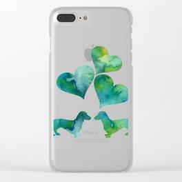 Dachshunds Art Clear iPhone Case