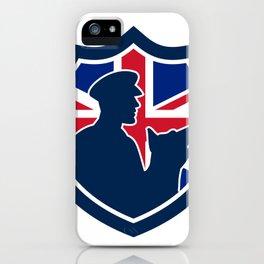 British Police Canine Team Crest Icon iPhone Case