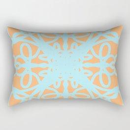 Mandala orange & mint pantone abstract Rectangular Pillow
