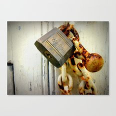 Padlocked (Macro) Canvas Print