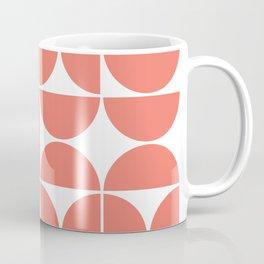 Mid Century Modern Geometric 04 Living Coral Coffee Mug