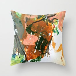 Untitled Abstract-Temper Throw Pillow