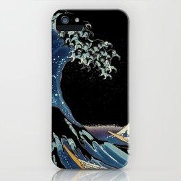 black wave kanagawa iPhone Case