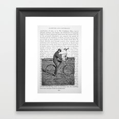 1930s Boy on Bike Photo Collage Framed Art Print