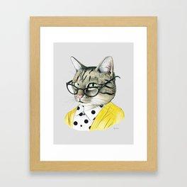 Sassy Tabby Cat by Ryan Berkley Framed Art Print