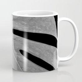 Black and White Monstera Leaf Coffee Mug