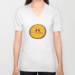 Buck Tooth Smiley Unisex V-Neck
