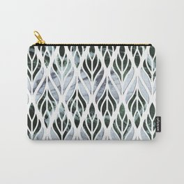 Marble Leaves Carry-All Pouch