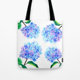 blue purple hydrangea Tote Bag
