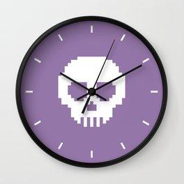 Pixel Skulls - Purple Wall Clock