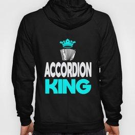 Air Accordion Player King Music Musician Gift Hoody