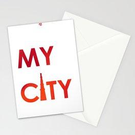MyCity-Delhi-RedOrangeB Stationery Cards