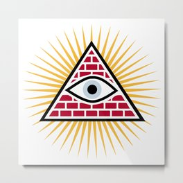 Freemasonic eye Metal Print