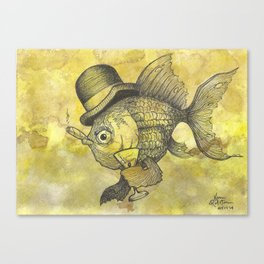 Bad Ass Goldfish Canvas Print