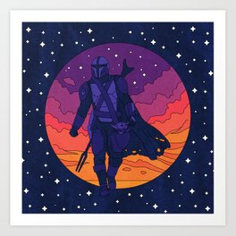 """""""Mando and The Child - Stars"""" by Berlin Michelle Art Print"""