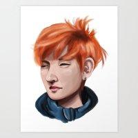 Taehyung Winter Art Print