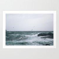 Wild Tasmanian Ocean II Art Print