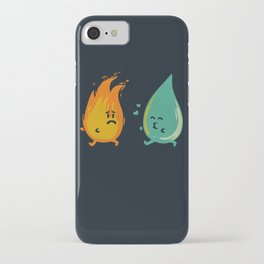 Impossible Love (fire and water kiss) iPhone Case