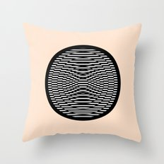 Simple Modern Stripes Circular Print Throw Pillow