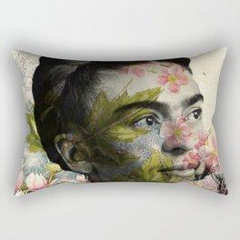 Flowered Frida Kahlo Rectangular Pillow