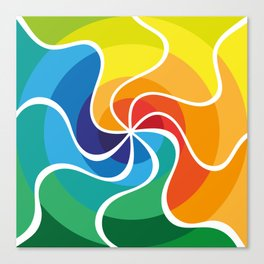 Colourful Swirl Canvas Print