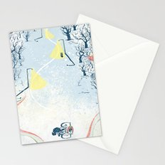 Winter Cycling Stationery Cards