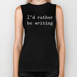 Vintage Funny Writers Gift for Budding Writers and Authors Biker Tank