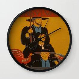 Pennsylvania Wall Clock