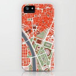 Seville city map classic iPhone Case