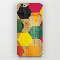 bebop iPhone & iPod Skins featuring Wood Prints by Simi Design