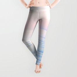 Dreamy Pastel Seascape 2. Blue & Nude #pastelvibes #Society6 Leggings