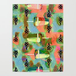 Pine Cones and Ice Pops. Poster