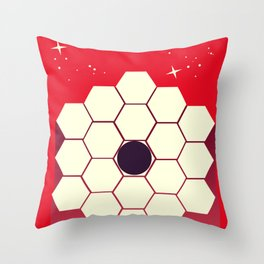 james webb space telescope, Throw Pillow