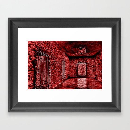 4thDOOR NEON Framed Art Print