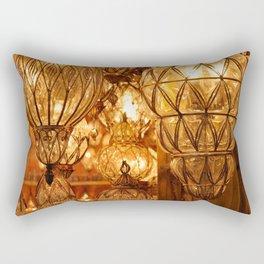 Chandeliers at the Bazaar Rectangular Pillow