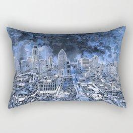 austin texas city skyline Rectangular Pillow