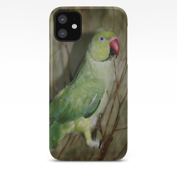 Indian Ringneck Parrot Cherokee Iphone Case By Judypalkimas