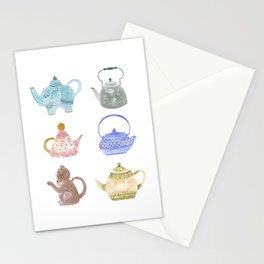 Waterclor Teapot Collection Stationery Cards