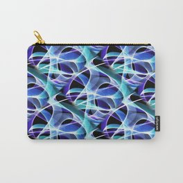 Waves Pattern on Black Carry-All Pouch